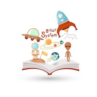 Offenes Buch und Ikonen der Wissenschaft