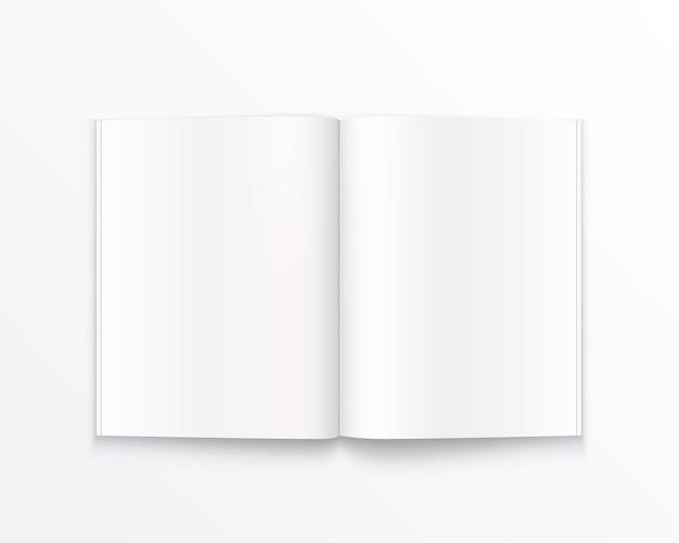 Offenes papierbuch mit textkunst. vektor-illustration