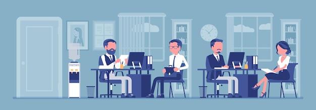 Office business workspace hr manager interviewt bewerber firmenmitarbeiter arbeiten