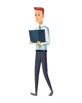 Office-dokumente vom kopierer. büroangestellter mit dokumentenstapel. konzeptmann der büroarbeit.