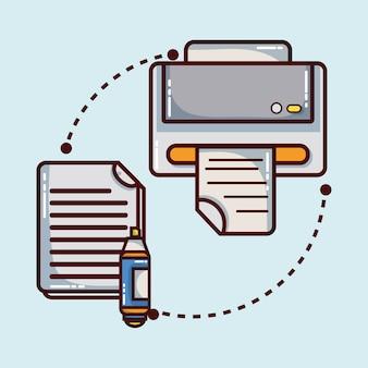 Office-element-symbol für die unternehmensstrategie