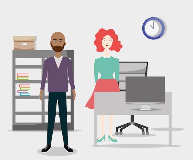 Office-mitarbeiter cartoons