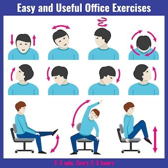 Office-syndrom gesundheitskonzept konzept vektor infographik