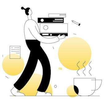 Offizier business vektoren illustration flache linie