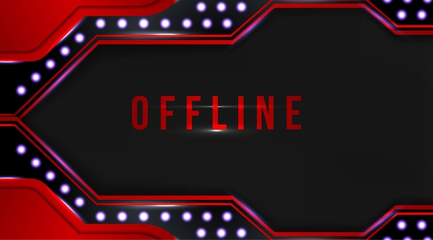 Offline-medien zucken streaming-banner hintergrund