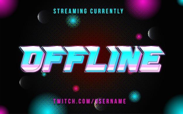 Offline-overlay-hintergrundtexteffekt streamen