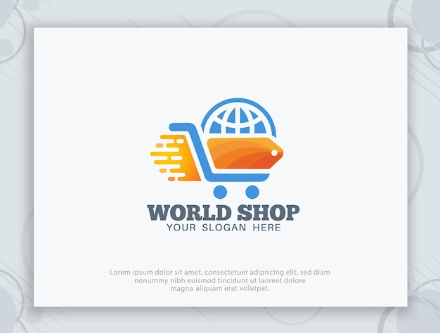Offline- und online-shop-logo-design