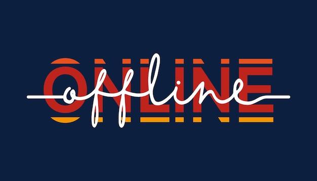 Offline zu online - kalligraphie schriftzug zitat