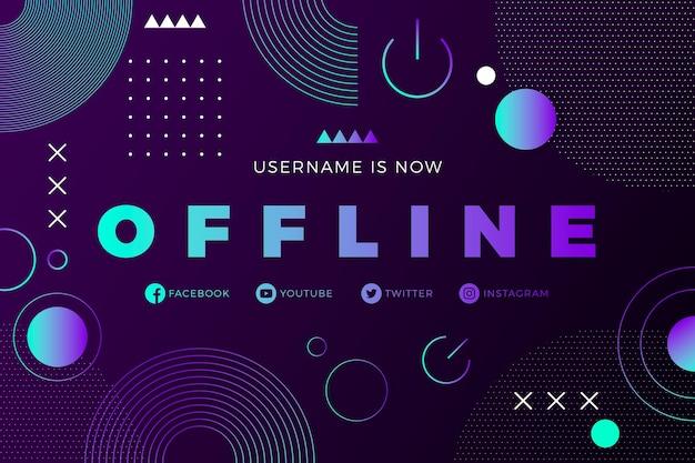 Offline zuckende banner memphis-stil