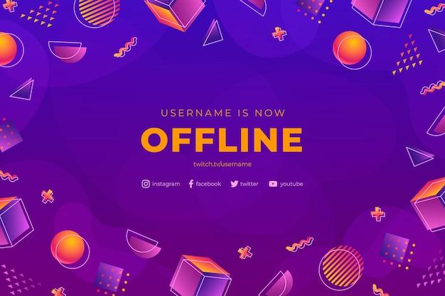 Offline zuckende banner memphis style