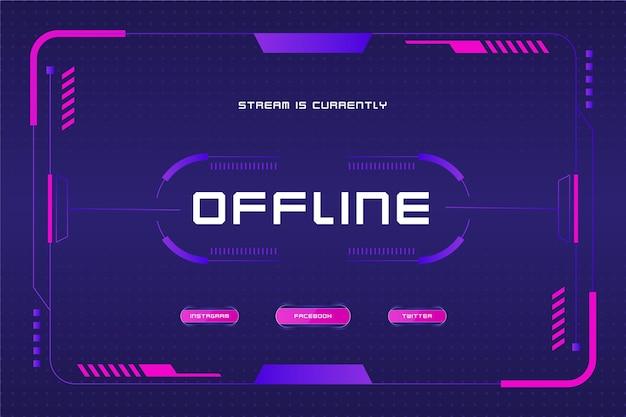 Offline zuckendes banner im gamer-stil