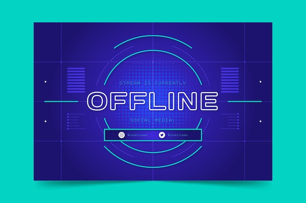 Offline zuckendes banner im gammer-stil