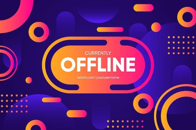 Offline zuckendes banner im memphis-stil