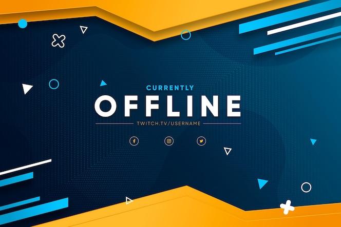 Offline zuckendes banner-konzept
