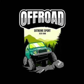 Offroad-artwork für t-shirt-merchandise