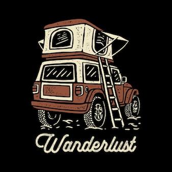 Offroad campingwagen illustration