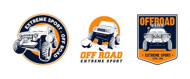 Offroad-logo-set illustration Premium Vektoren