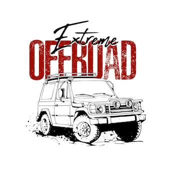 Offroad-sport für t-shirt-merchandising-design