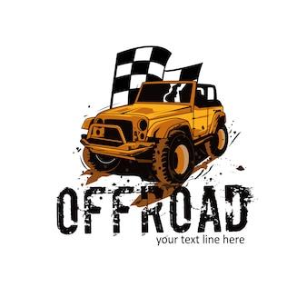 Offroad und die flagge