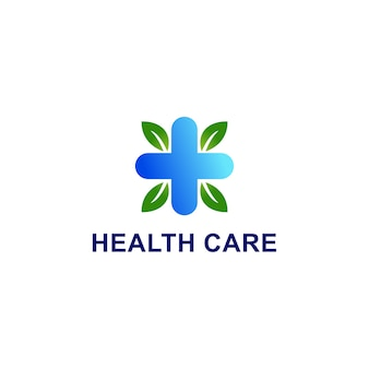 Ohne titel - medizinische versorgung. kreuz plus medizinisches logo