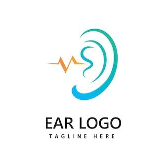 Ohr, logo-symbol-vektor-design hören