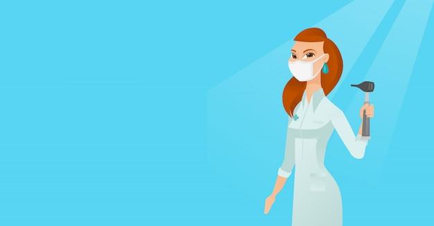 Ohrnasen-halsdoktor-vektorillustration.