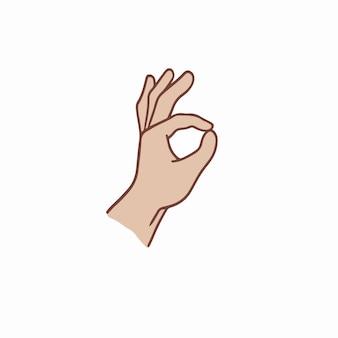 Okay handgeste symbol social media post vektor illustration