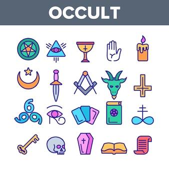 Okkulte, dämonische entitätsbilder
