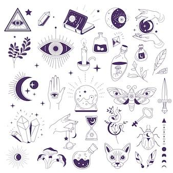 Okkulte zeichen, hexerei und esoterik