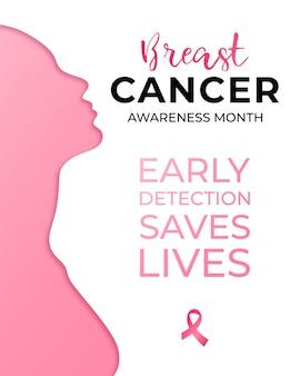 Oktober - kampagne zur aufklärung über brustkrebs im monat.