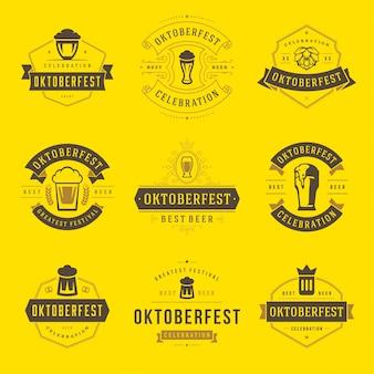 Oktoberfest-abzeichen und logos festgelegt