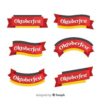 Oktoberfest-bänder im flachen design