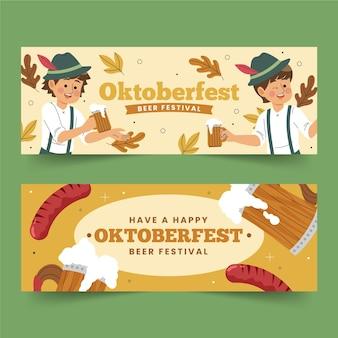 Oktoberfest banner banner zeichnung