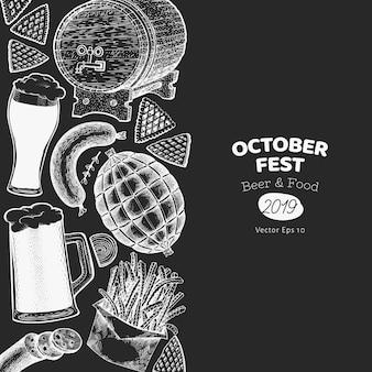 Oktoberfest-banner in schwarz