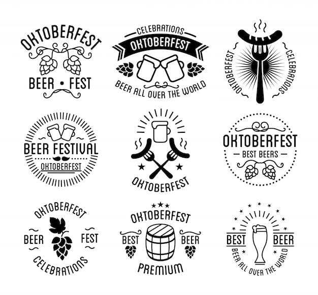 Oktoberfest bier festival schriftzug