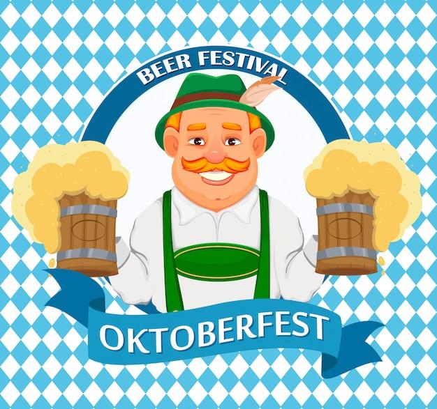 Oktoberfest, bierfest. fröhlicher mann