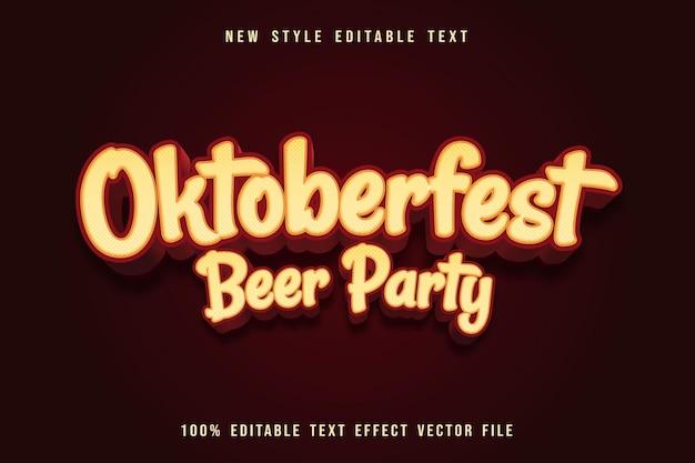 Oktoberfest-bierparty bearbeitbarer texteffekt prägen cartoon-stil