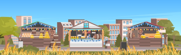 Oktoberfest bierparty feier open air outdoor festival stadtbild hintergrund