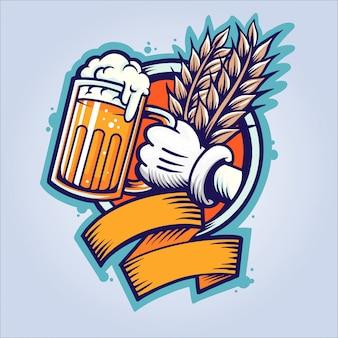 Oktoberfest-biersüchtiger