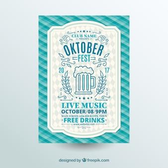 Oktoberfest, blaues festliches plakat