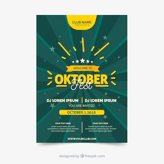Oktoberfest-broschüre