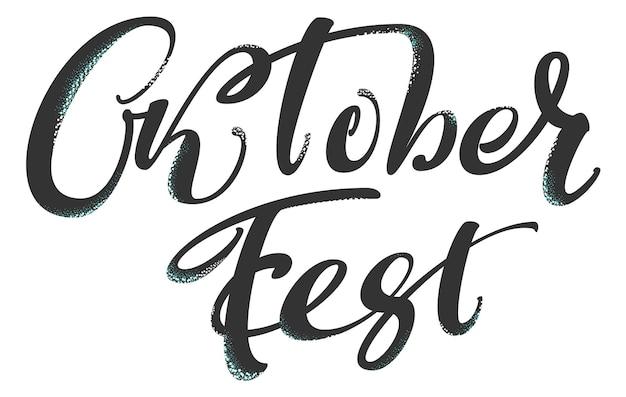 Oktoberfest deutscher beschriftungstext für grußkarte wiesn-feiertag vector illustration
