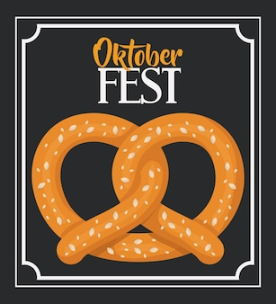 Oktoberfest-einladungsplakatvektor-illustrationsdesign