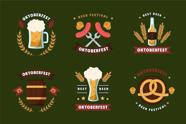 Oktoberfest-etikettenkollektion