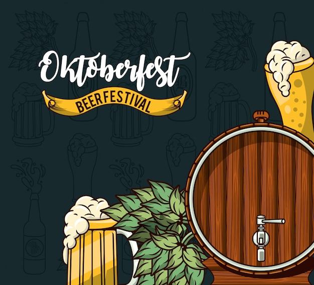 Oktoberfest-feier, bierfest-design