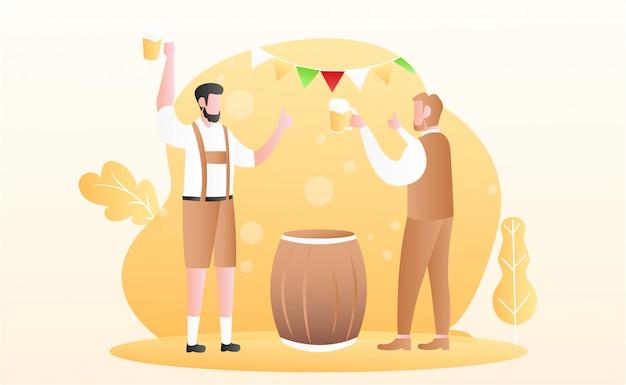 Oktoberfest festival hintergrund