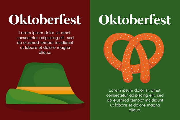 Oktoberfest-festivaldesign mit ikone vectot ilustration