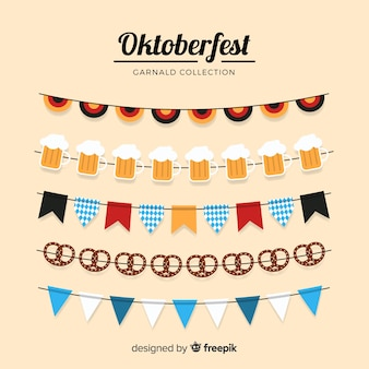 Oktoberfest girlanden sammlung