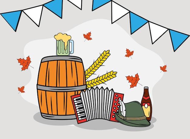 Oktoberfest girlanden und symbole