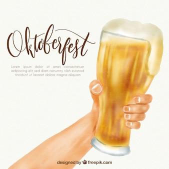 Oktoberfest, handbemaltes bier